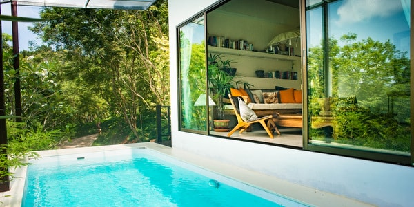 Balinese-villa-sale-koh-chang-pool-deck-room