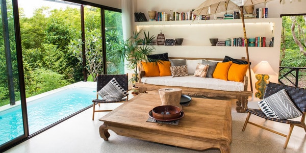 Balinese-villa-sale-koh-chang-sitting-room-pool