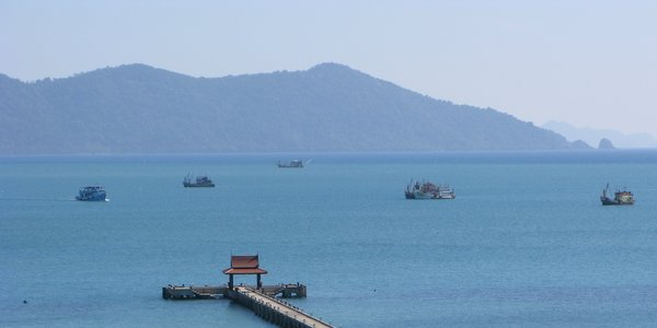 Bang Bao Koh Chang from the south of the bay