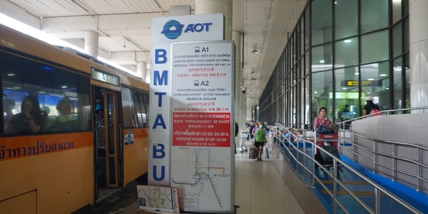 don mueang airport bangkok thailand shuttle bus