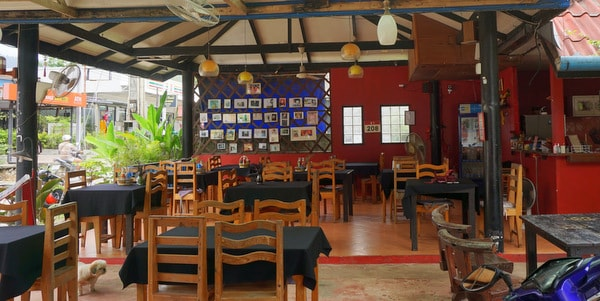 guesthouse-sale-koh-chang-west-coast-restaurant-view