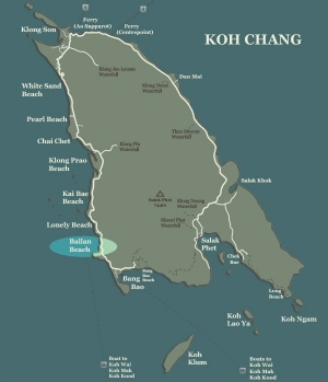 Koh Chang Map Bailan Beach