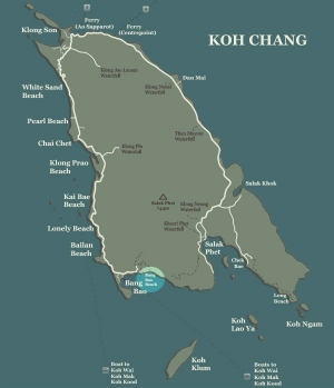 Koh Chang Map Bang Bao Beach