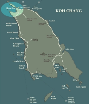 Koh Chang Map Klong Son