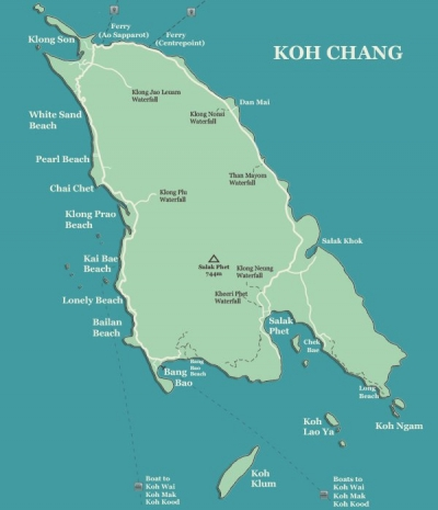 Koh Chang Map Koh Chang beaches