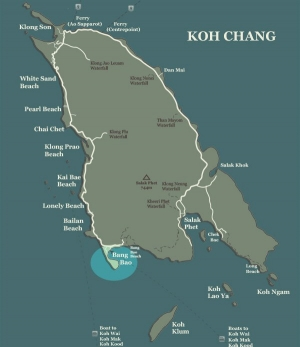 Koh Chang Map Bang Bao