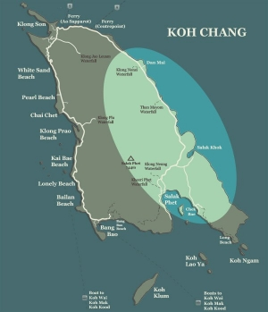Koh Chang Map Koh Chang East Coast