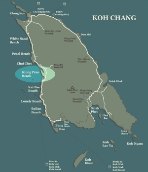 Koh Chang Map Klong Prao Beach