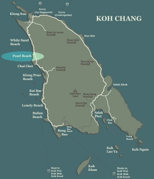 Koh Chang Map Pearl Beach