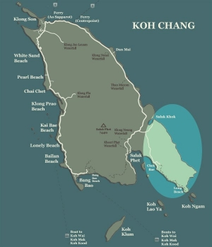 Koh Chang Map Long Beach Salak Khok Chek Bae
