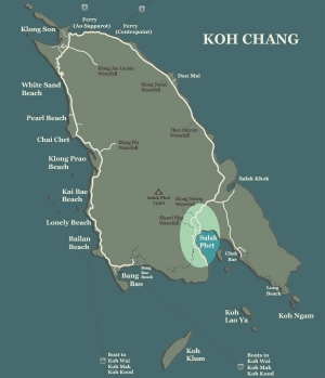 Koh Chang Map Salak Phet