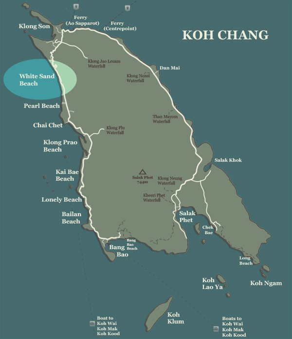 White Sand Beach Koh Chang The Beaches Guide