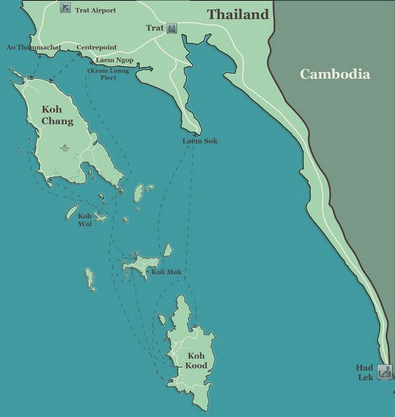 map-koh chang-koh kood-koh mak-koh-wai-islands