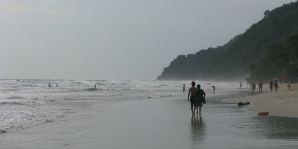 White Sand Beach Koh Chang in rainy season