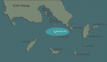 Koh Lao Ya Map
