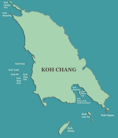 koh-chang-map-islands near koh chang